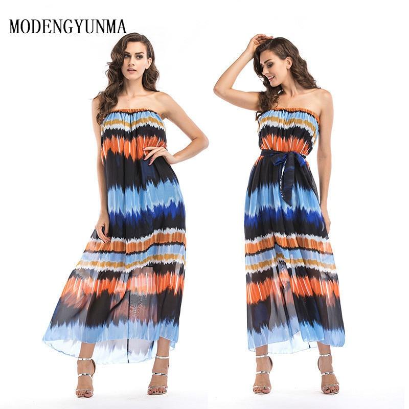 Modengyunma Big Size S 6xl Maternity Bohemian Dress Pattern Chiffon Summer Pregnant Woman Long Dress Pregnancy Clothes Vestido Parent Thesis